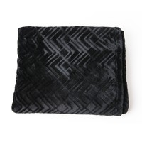 Embossed Chevron Throw Blanket