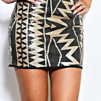 WARRIOR SEQUIN SKIRT