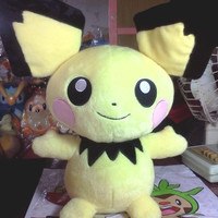 "Pokemon Center Pocket Monsters Pichu 1:1 18"" Plush Doll Collection Figure"
