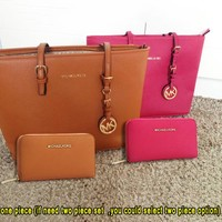 MK MICHAEL KORS New Fashion Women Shopping Leather Handbag Tote Satchel Shoulder Bag Two Piece Bag