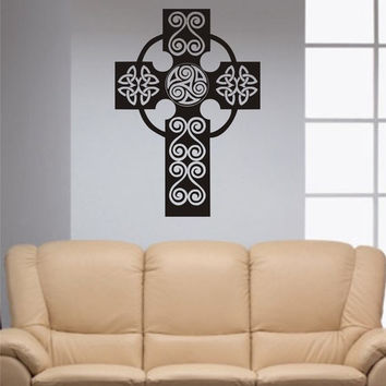 Beautiful Cross Religious Decal Sticker Wall Vinyl Art Home Room Decor