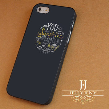 you are my sunshine framed gray iPhone 4 5 5c 6 Plus Case | iPod 4 5 Case