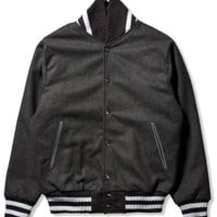 "Black ""Pinball"" Knitted Versity Jacket"