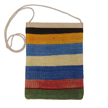 Alda Multi Striped Pattern Kilim Bag
