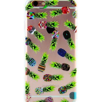 Some Pineapple Printed iPhone 7 7Plus & iPhone se 5s 6 6 Plus Case Cover +Gift Box-86