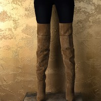 Tan On Top Thigh-high Boots