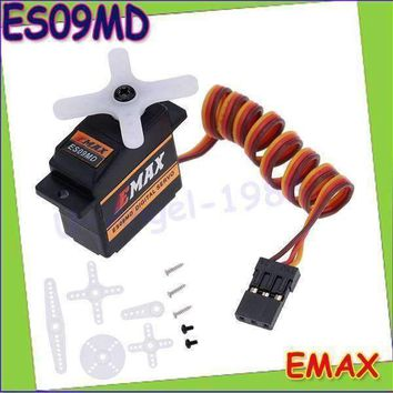 4set/lot EMAX ES09MD Dual-bearing Special Swash Metal Digital Servo For TREX Align 450 Helicopter(es08ma es08md es08a)