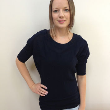 Navy Dolman Sweater