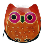 Leather Owl  Coin Purse on Sale for $5.95 at The Hippie Shop