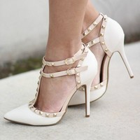 Stone Studded Strappy Heels