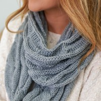 Warm Me Up Scarf - Charcoal