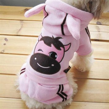 Hot Selling Dog Cartoon Clothes Soft Winter Warm Pet  Cozy Snowflake Dog Costume Clothing Jacket Teddy Hoodie Coat