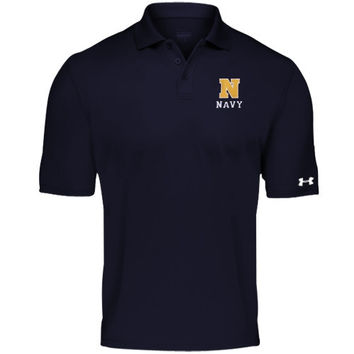Navy Midshipmen Under Armour Solid Performance Polo – Navy Blue