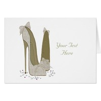 Personalised Party Stiletto Shoe Art Card