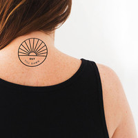 """Temporary Tattoo """"Out Till Dawn"""" Party Tattoo 