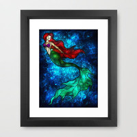 The Mermaids Song Framed Art Print by Mandie Manzano | Society6