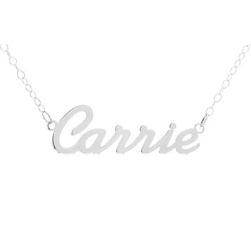 NAME NECKLACE SCRIPT FONT - STERLING SILVER
