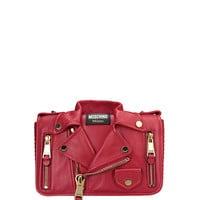 Moschino Leather Happy Meal Bag with Shoulder Strap