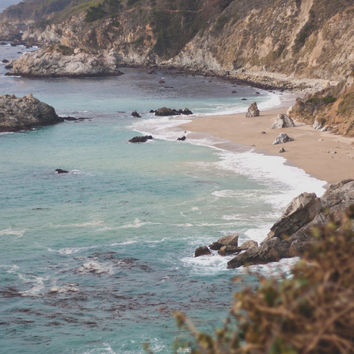 Fine art photography, beach, ocean, California, Big Sur, coast, coastline, cliffs, beach photography, waves, blue