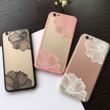 Trendy Lace Flowers iphone Case for iPhone 5S 6 6S Plus 7 Best Gift