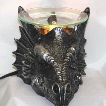 Dragon Head Table Fragrance Aroma Lamp Oil Diffuser Wax Tart Candle Warmer Burner Home Decor