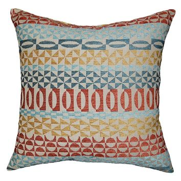 Spencer Emoji Throw Pillow (Blue/Orange/Yellow)