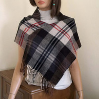 Plaid Scarf, Blanket Scarf, Winter Shawl Scarf, Long Scarf, Unisex Scarf, XL Scarf, Womens Winter Accessories, Trend Scarves