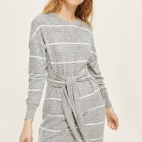 Stripe Cut and Sew Mini Dress