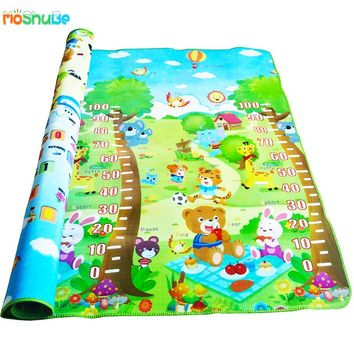 Educational Baby Crawling Mat 2*1.8m Double-sided Play Activity Mat Baby Play Gym Kids Play Mat Mat for Children Rug