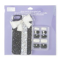 All Wrapped Up Crystal Bling Cover for iPhone 5 and 5s with 10 Faux Nails | Claire's