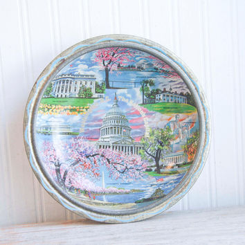 Vintage Washington DC Souvenir Tray - American Monuments