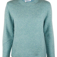 Mint Shrunken Long Sleeve Crew Sweater