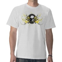 Graphic Painted Skull T T-shirt from Zazzle.com
