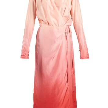 Silk wrap dress | Attico | MATCHESFASHION.COM UK