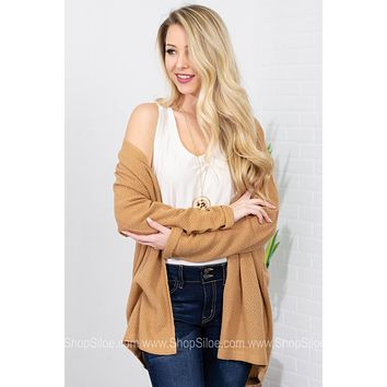 Simply Knit Loose Cardigan | Tan