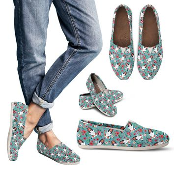 Rough Collie Flower Casual Shoes-Clearance