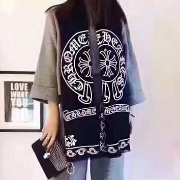 Chrome Hearts Fashionable Women Men Cashmere Cape Scarf Scarves Shawl Accessories