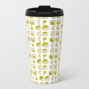 Eating process (Apple) // watercolor apple consumption Metal Travel Mug by Camila Quintana S