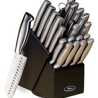22 Pc Professional Kitchen Knives Steel Chef Series Cutlery Block Knife Set