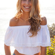 White Off Shoulder Cape Lace Cropped Top