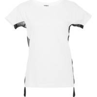 Sonia Rykiel Jersey Mixed With Georgette T-Shirt Optic/Black