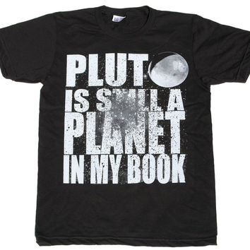 Mens PLUTO american apparel T SHIRT  xs S M L XL xxL (Black)