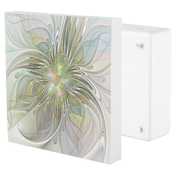 Floral Fantasy, Abstract Fractal Art Outlet Cover