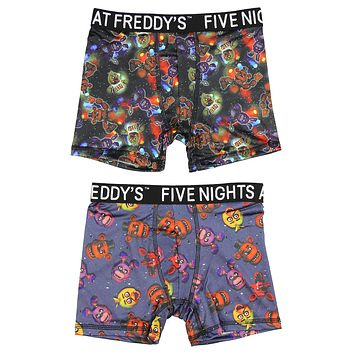 Five Nights at Freddy's Action Underwear 2 Pack Boys Boxer Briefs