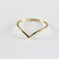 Chevron Stack Ring
