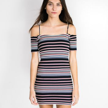 Checked Out Stripe Dress