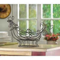 Country Rooster Kitchen Basket