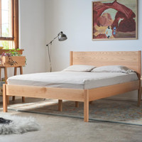 Featured Item  Solid Red Oak Queen Bed Frame and by hedgehouse