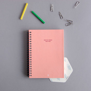 Mon Petit Bereau Small Daily Planner Blush Pink