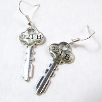 The Key to 221B: Sherlock Inspired Earrings
